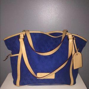 DOONEY BOURKE Royal blue Sig Logo Med Tote 2S794RB